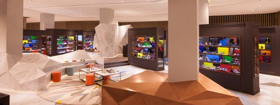 Louis Vuitton celebrates the opening of the first pop up shoe store at level Shoe District, Dubai