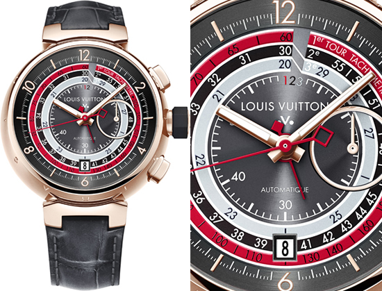 Louis Vuitton Tachometer Tambour Automatic Chronograph is made for the automobile enthusiast
