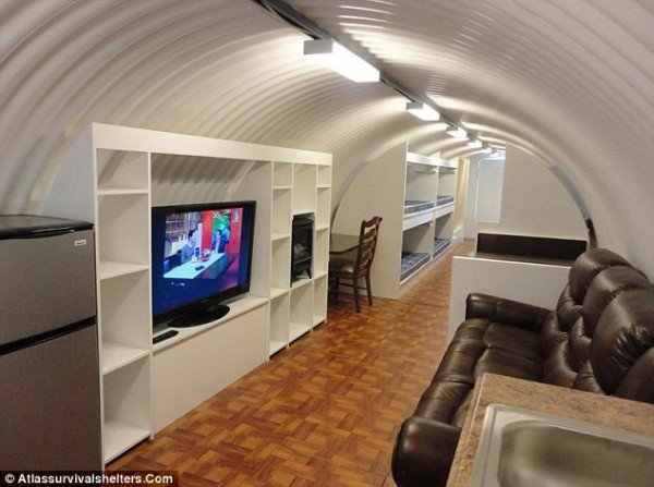Stay protected in the $75,000 luxurious bomb-proof bunker when the