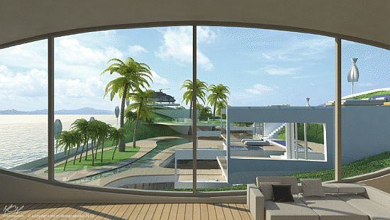 island e motion concept megayacht will float at the. Black Bedroom Furniture Sets. Home Design Ideas