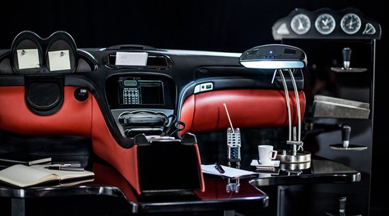 Cape Town woman transform a Mercedes SL into an office desk and chair