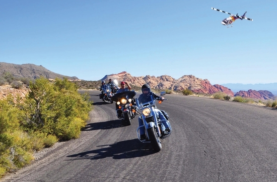 Explore the Grand Canyon via a helicopter paired with a motorcycle