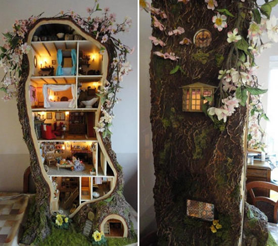 A Miniature Dollhouse Inspired By Brambly Hedge Is Nestled