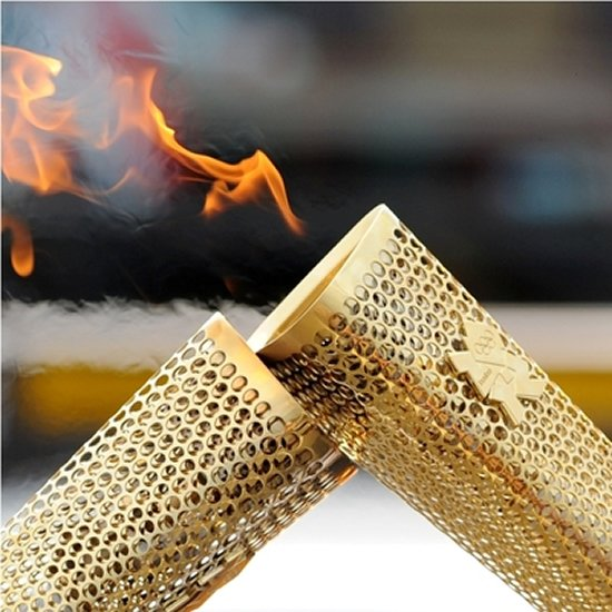 London 2012 Olympic Torch signed by David Beckham is up for grabs