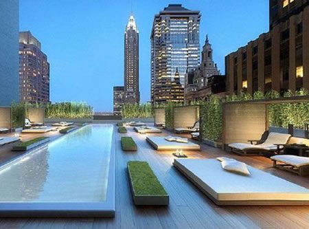 Armani interiors Penthouses at 20 Pine in Manhattan