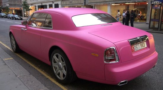 Matte Pink Rolls Royce Spotted In London