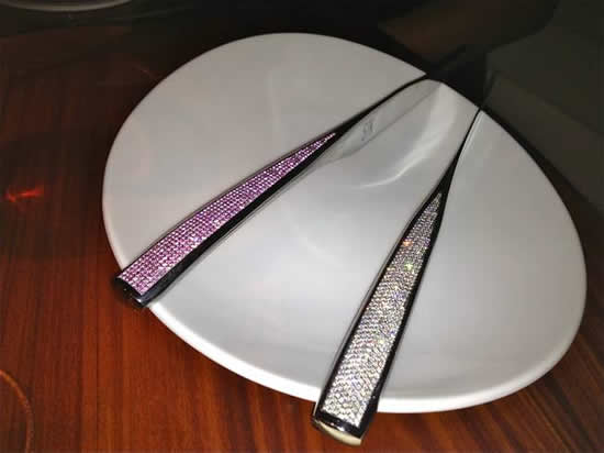 STK steakhouse offers a 6.5 carat sapphire steak knife to diners