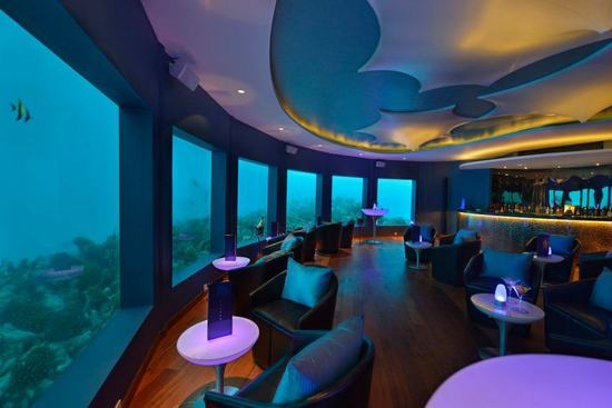 Subsix is the world's first underwater music club in the Maldives