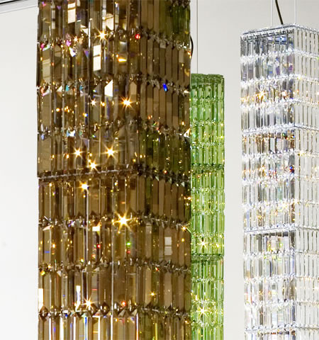 Vertical Glitterbox Chandelier is just too unique