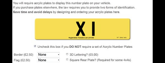 Britains most expensive number plate X1 worth £1 million