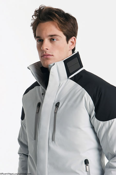 Ermenegildo Zegna presents solar powered ski jacket for skiing in style!