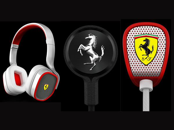 New Ferrari-branded Logic3 line of earphones and headphones