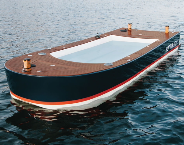 16 Feet Boat Boasts Of An Eight Foot Long Hot Tub