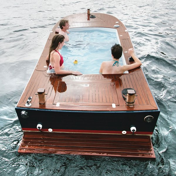 16 Feet Boat Boasts Of An Eight Foot Long Hot Tub