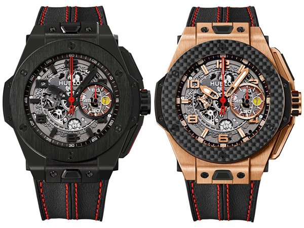 Hublot Big Bang Ferrari Red Magic Carbon and the King Gold Carbon unveiled