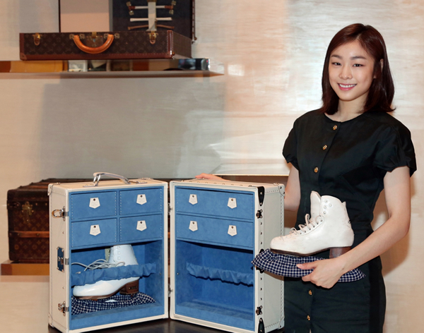 Replica Of Kim Yu Na S Louis Vuitton Skate Trunk Fetches