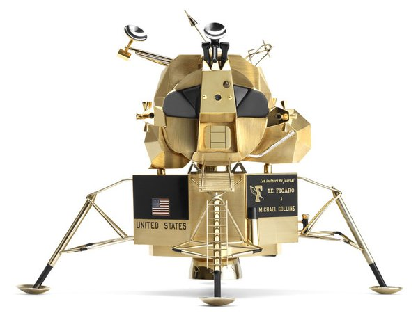 Cartier's sold gold replica of the Apollo 11 Lunar Module to be exhibited