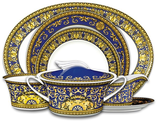 The Medusa Blue Dinner Service is decadent much like its red counterpart. This $3490 22-piece dinner set is also a promise of a lavish meal but falls on the ...  sc 1 st  Luxurylaunches & Versace tableware collection adds style to fine dining -