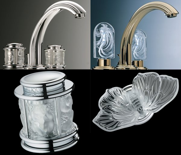 Thg Unveils Three Lalique Crystal Faucets To Jazz Up A