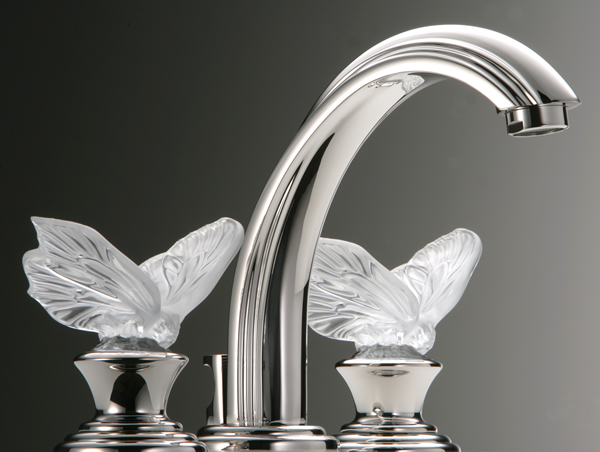 THG unveils three Lalique crystal faucets to jazz up a bathroom -