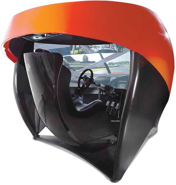 The Full Immersion Professional Racer's Simulator is the closest to the real thing