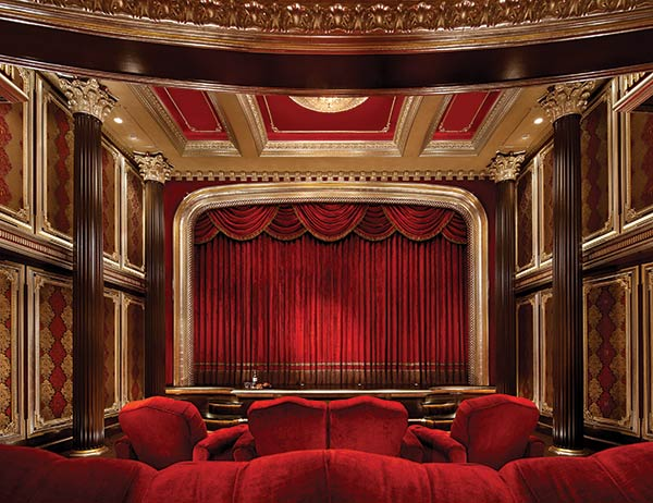 Crimson red inspired Home theatre costs $3 million