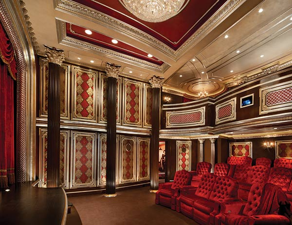 Crimson Red Inspired Home Theatre Costs 3 Million