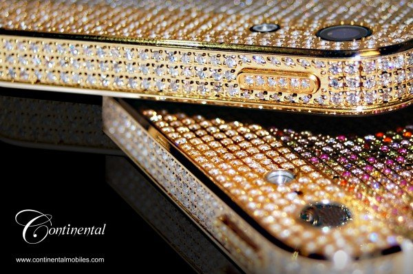 The Adamas and Aurora collection of bejeweled iPhone 5 by Continental Mobiles