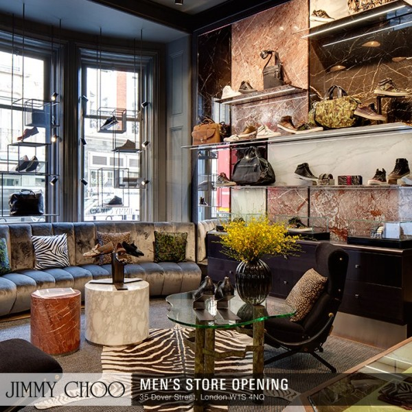 New Jimmy Choo Men's Flagship Store Opens At Mayfair, London